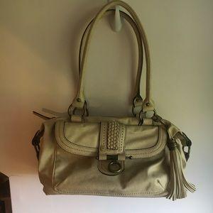Chaps cream purse
